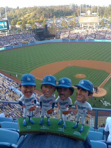 dodger game with the fam